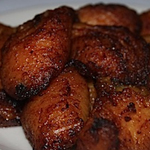deep fried plantains and yuca